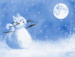 SnOw KiTTy ... by HannahChapman