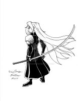 Ink 05 - Sephiroth by EricRonin