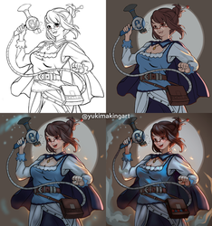 Overwatch - Medieval / Steampunk Mei by yukionetwo