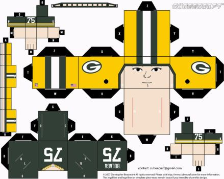 Brian Bulaga Packers Cubee by etchings13