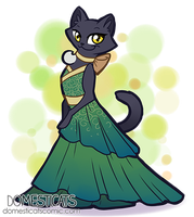 Shiva - Draw your cat in a dress day by ShinePawArt