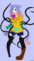 My new Creepypasta Oc 3 Emilia Demon  by BoXGirlVivi