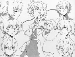 Dazai Osamu Collage by step-on-mee