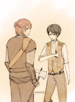 Ereri - Snow White and the Huntsman by pandagulung