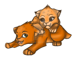 smilodon cubs by Gie