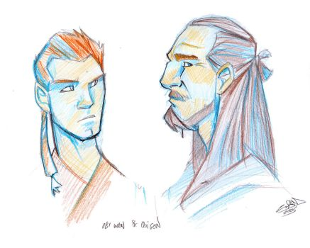 obi wan and qui gon sketch by thenota