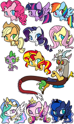 MLP FIM Squish Party by KMWolf