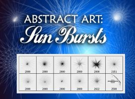 Abstract Brushes: Sun Bursts by fiftyfivepixels