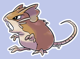 #020 Raticate by little-ampharos