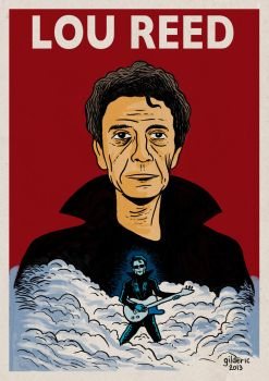 Lou Reed by gilderic