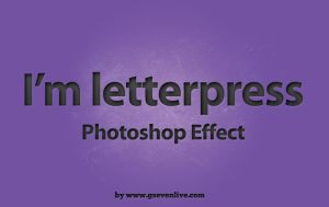 Photoshop Letterpress Effect PSD by G-SEVEN