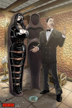 Morticia in Bondage by bondage-fan-comics
