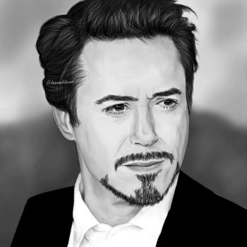 RDJ portrait drawing by drawnatdawn
