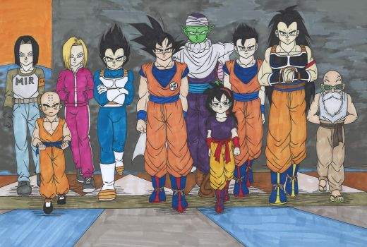 DB - Tournament of Power - Universe 7 team by IsabellaFaleno