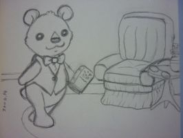 Mr. Bear's reading time by Minimony