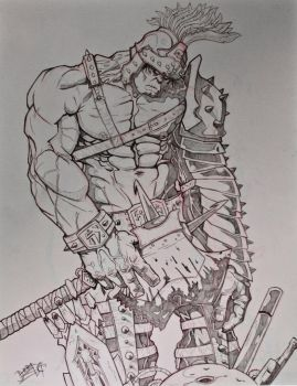 Planet Hulk Pencil by kjarnold