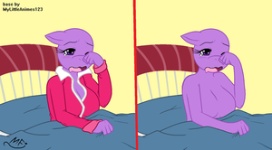 MLP Base Anthro: Getting up early by MyLittleAnime123