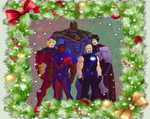 Christmas photo with friends by hulkdaddyg