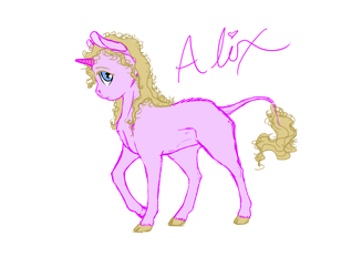 Young Unicorn OC Concept by fyrewhisp