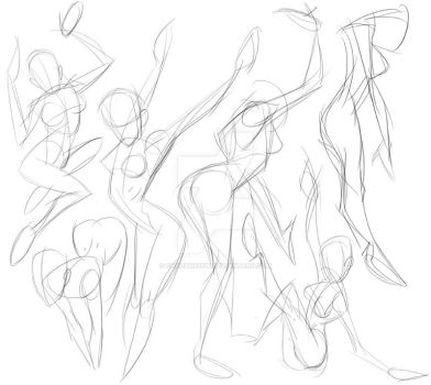Female gesture studies by ChadTHX1138