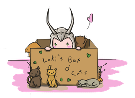Loki's Mind is a Box o' Cats by vNamuie