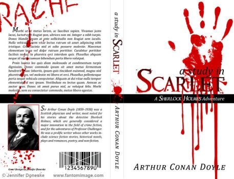 Study in Scarlet - Book Cover by whitefantom