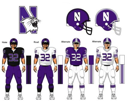 Northwestern Wildcats uniform concept by TheGreatKtulu