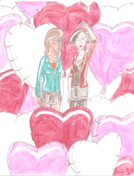 Valentine's Day card: Daria and Jane by JimmyTwoTimes2K9