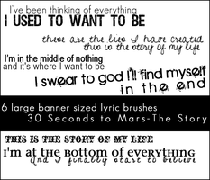 30STM Large Lyric Brushes by IbeLIEve6277
