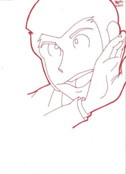Lupin the third red lineart by Rajani-Blake