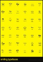 Smiling Typefaces by freakyframes