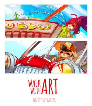 WALK WITH ART on Kickstarter!! by aiki-ame
