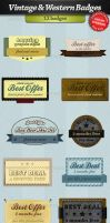Vintage and western badges by stefusilviu