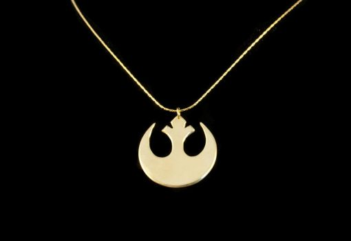 Star Wars Rebel Insignia Necklace by obsidiandevil