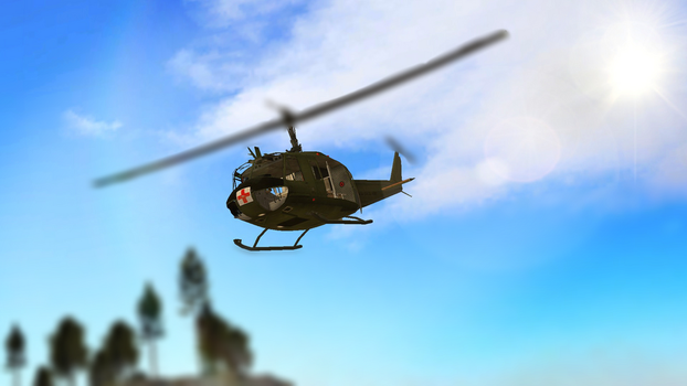{Gmod} Flight of the Bell UH-1 Iroquois by AquaDestroyer