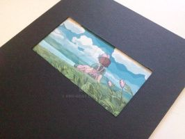 Kikis Delivery Service gouache paining by Kris-Goat