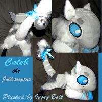 Caleb the Jolleraptor Plush! (Commissions open) by SalamiPants