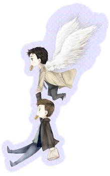 SPN: Dean and Cas by velvetcat09