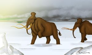 Woolly Mammoth Travels by Louisetheanimator