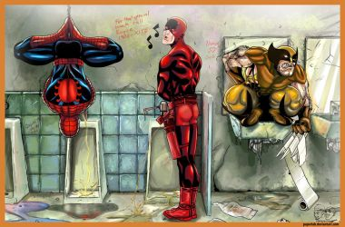 Marvel Bathroom by paperlab