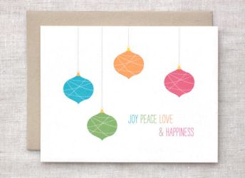 Holiday Card - Joy Peace Love by happydappybits