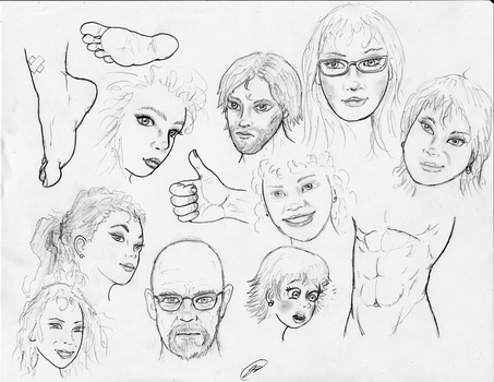 FaceSketches180210 by TheMightyGorga