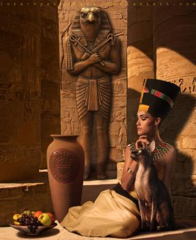 Queen Of Egypt by Lora-Vysotskaya