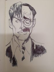 QUICKSKETCH ON MOLESKINE (DYLAN/GROUCHO)2 by AgostinoF