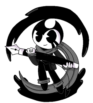 .Ink!Bendy-Pixel Art-GIF. by vocaloid121