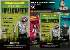 Trick Or Treat Halloween Flyer Template design by dennybusyet