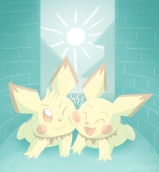 Side by side, it's Pichu and Pichu! by Nintooner