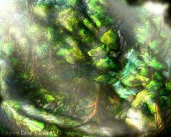 Forest Illustration 1 by Anagram-Daine