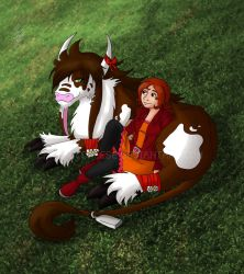 Digimon Sanctum - Relaxing by CaramelCheese