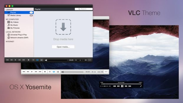 VLC Theme (OS X Yosemite) by Baklay